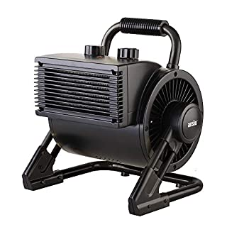 ANSIO 2000W Portable PTC Ceramic Fan Heater Electric Heater with 2 Heat Settings, Thermostat and Safety Cut-Off - 2 Year Warranty - Black