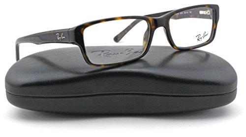 Ray-Ban RX5169 Square Unisex Eyeglasses (Dark Havana Frame 2012, 52)