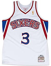 Allen Iverson Philadelphia 76ers Mitchell & Ness Authentic 1996 Home NBA Jersey Maillot