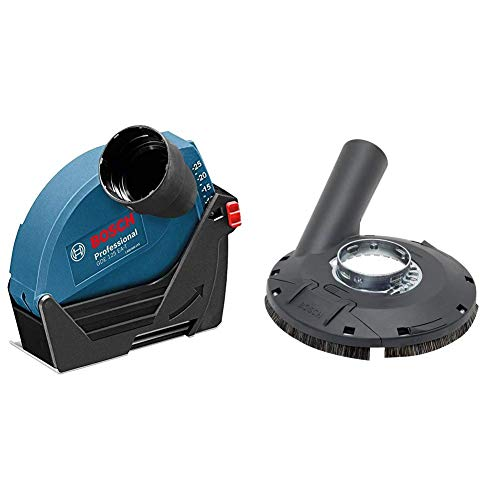 Bosch Professional 1600A003DJ GDE 125 EA-T Absaughaube, 125 mm Trennscheiben-Ø, 25 mm max. Schnitttiefe & Professional Absaughaube (mit Bürstenkranz, Farbe, Lacke, Kunststoff (GFK), Holz)