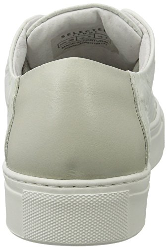 SELECTED FEMME Sfdonna Ostrich Sneaker, Sneakers Basses Femme Blanc (White)