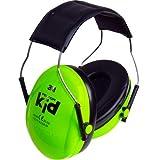 3M Peltor Kid - Orejeras para niños, protectores auditivos para niños a partir de 2 años, nivel de ruido hasta 98 dB, muy ligero, color verde