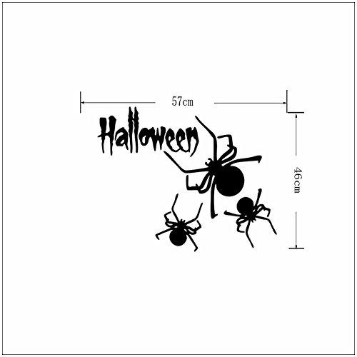 er Halloween Spinne Wandaufkleber 57 × 46cm ()