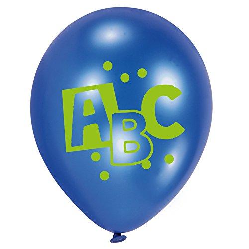 1. Schultag - Dekoset Einschulung - Servietten, Luftballons & Konfetti ABC - 8