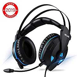 ⭐️KLIM IMPACT - USB Gamer Headset - 7.1 Surround Sound + Noise Isolating - High definition Audio + Strong Bass - Gaming Video Games Headset with Microphone for PC PS4 [ New 2019 Version ]