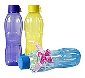 Signoraware Aqua Fresh Plastic Water Bottle, 1 Litre, Multicolor (Buy 2 Get 1 Free)