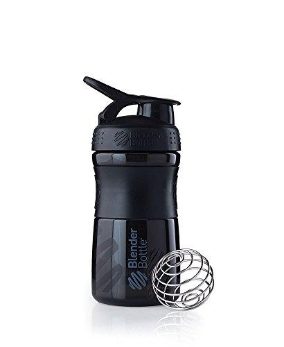 BlenderBottle Sportmixer Tritan Shaker | PRotein Shaker | Wasserflasche | Diät shaker (20oz / 590ml) - Schwarz|Schwarz
