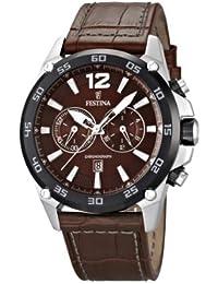 Festina Herren-Armbanduhr XL Chronograph Quarz Leder F16673/3