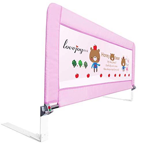 MY1MEY Barrera de Seguridad Rampas de Cama extralargas Rieles de Cama de Cuna Ajustable Cama de niño Ajustable Cama de Seguridad (Color: Rosa, tamaño: Longitud 80 cm)