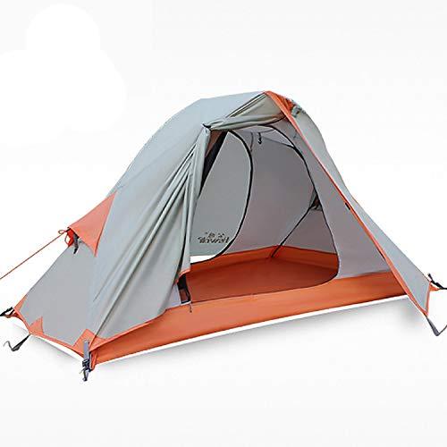 HEWOLF Zelt 1 Person - Zelt Wasserdicht - Einmannzelt-Camping Zelt Instant - Fahrrad Trekking Zelt Kleines Packmaß Professionelles Niveau Abenteuer Zelt 3-4 Saison