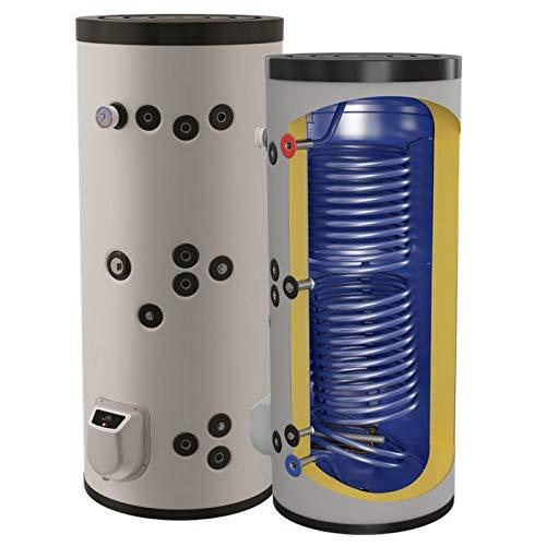 150 200 300 500 750 1000 L Liter kombinierter Warmwasserspeicher mit 2 Wärmetauschern und 3 9 12 kW Elektroheizstab - Standspeicher Boiler Kombispeicher Elektrospeicher