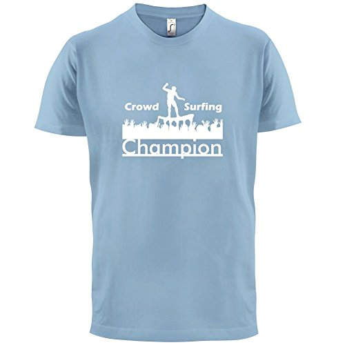 Crowd Surfing Champion - Herren T-Shirt - 13 Farben Himmelblau