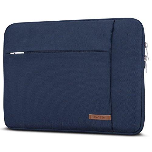 """Housse MacBook Pro 13/MacBook Air (2018) Sleeve Bleu - CASEZA London Sac Ordinateur pour MacBook Air (2018)/Pro 13 Dell Acer & Autres Modèles 11-12"""" - Sac à Main PC résistant à l'Eau avec 2 Poches"""