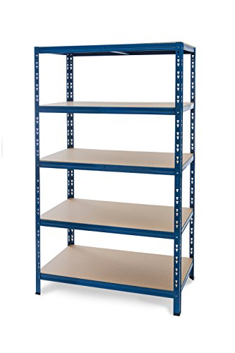 Regal 180x80x60 blau - Steckregal Lagerregal Schwerlastregal Haushaltsregal Durchlaufregal Metallregal