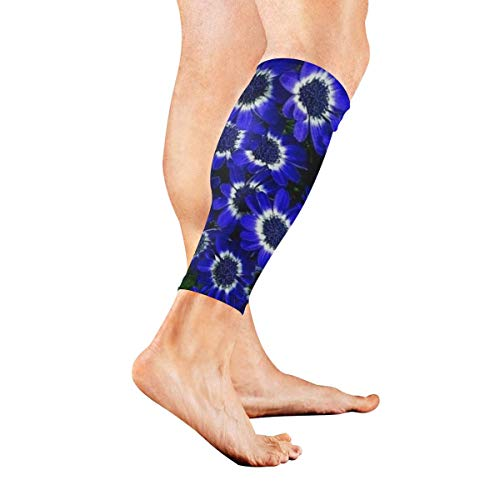 Beinmanschette Summer Blue Daisy Calf Sleeves 1 Pair For Running Cycling Travel Japan Daisy
