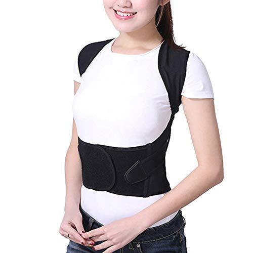MISSMAO_FASHION2019 Haltungskorrektur Geradehalter Rücken Schulter Gürtel-Rückenhalter Schultergurt Rückenstütze Haltungstrainer für Kinder und Erwachsene Schwarz 2XL