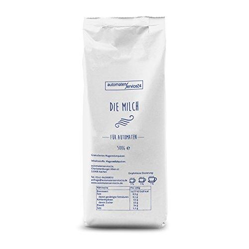 Die Milch - Milchgranulat 500g - 100% granuliertes Magermilchpulver für Kaffee-Automaten | Instant-Milch Granulat Automatengeeignet und Wasserlöslich für excellenten Milchschaum