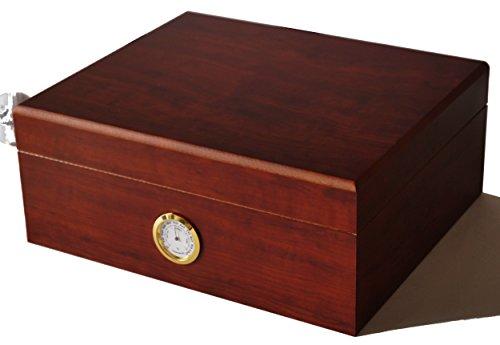 GERMANUS Klassiker II - Zigarren Humidor für ca. 50 Zigarren