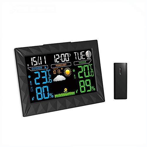 TIB Heyne Drahtlose Wettergänge und Sensoren für Indoor-Outdoor-Temperatur, Feuchtigkeit, Druck, Sonnenaufgang und Sonnenuntergangszeiten, Und Mondphasen,UK