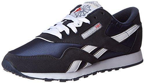 Reebok Unisex Erwachsener CL Nylon Niedrige Sneaker, Black/Black/Carbon, 39.5 EU