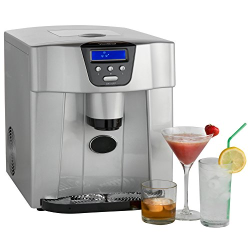VonShef Digital Ice Maker and Dispenser Machine with LCD Display Counter Top