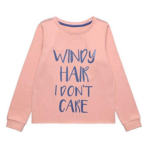 ESPRIT Kids Mädchen Sweatshirt RL1506502, Rosa (Peach 304), 152 (Herstellergröße: M)