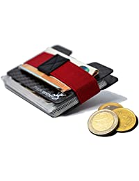 Premium Kartenetui aus stabilem Carbon – 1 bis 16 Karten & Geldscheine – Slim Wallet Portemonnaie, Kleine Geldbörse