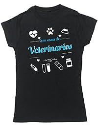 HippoWarehouse Son Cosas de Veterinarios camiseta manga corta ajustada para mujer