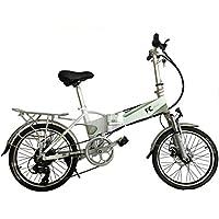 FC Bikes Bicicleta eléctrica Plegable con portabultos, e Bike, 250W, 36V, Motor