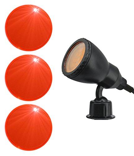 Farbige Mr16 Leuchtmittel (3er Set Farbscheibe orange FÜR Trango Gartenstrahler TG3075-015 und TG3075-025 3TG3075-FSO)