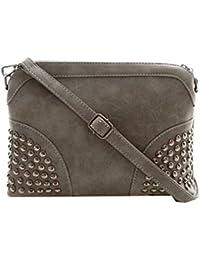 DI GRAZIA Women's Sling Bag (Grey-Stone-Sling-Bag,Grey)