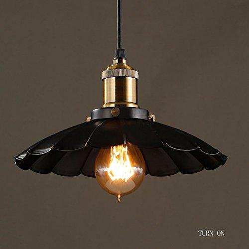 ZHIRONG 1-Lichter Pendelleuchte Eisen Retro Industrielle Anhänger Licht Land Stil Mini Kronleuchter Für Stangen Durchmesser 25cm