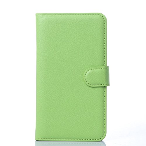 Tasche für Meizu MX4 Pro (5.5zoll) Hülle, Ycloud PU Ledertasche Flip Cover Wallet Case Handyhülle mit Stand Function Credit Card Slots Bookstyle Purse Design grün