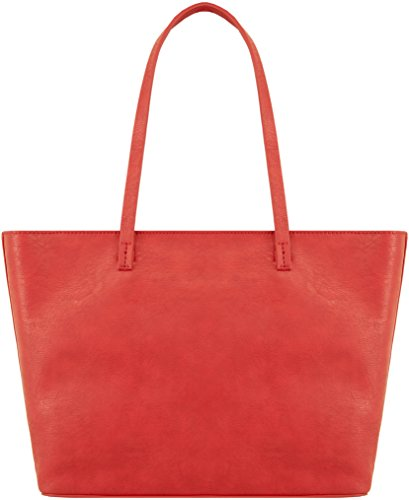 GUESS Audrey 2 In 1 Tote, Sac menotte pour Femme rouge