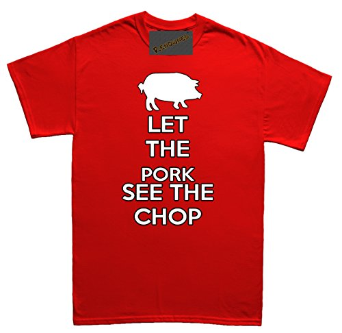 Renowned Let the Pork See the-Chop Unisex - Kinder T Shirt Rot