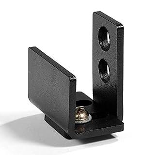 GOUPPER Black Steel Hardware Sliding Barn Door Bottom Wall Mount Floor Guide with Screws