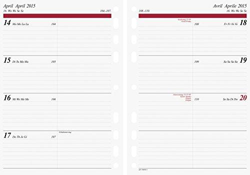 Baier & Schneider Kalendarium für Timer, Ringbuchkalender Timer-Einlage Wochenkalendarium, 2015, 1