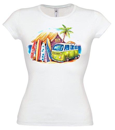 Ethno-Designs-Streetwear-Greenie-VW-Bus-Womens-Hippie-Surfer-T-Shirt-f-slim-fit