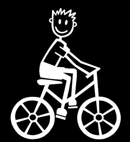 My Stick Figure Family Familie Autoaufkleber Aufkleber Sticker Decal Kleine Jungen Radsport, Fahrrad SB6