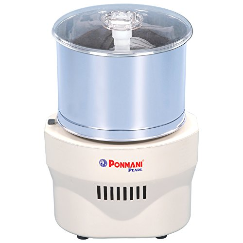 Ponmani Pearl 1.25 Litres Table Top Wet Grinder (White)