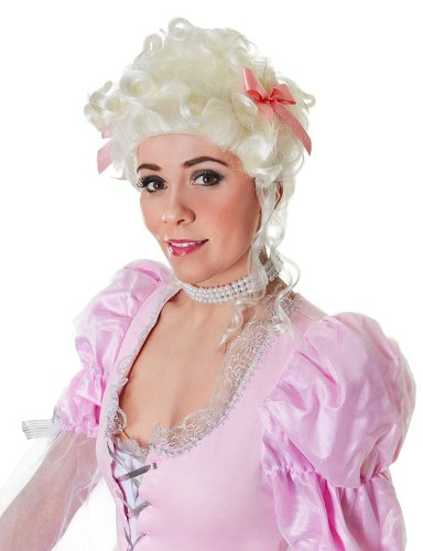 Weiß Marie Antoinette Perücke Elisabethanisch Tudor Edles -