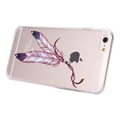 iPhone 7 Plus Clear Transparent Glitzer Case,Glitzer Transparent Hülle für iPhone 7 Plus,iPhone 7 Plus Crystal Clear Hardcase Case Hülle Liquid Gel Schutzhülle Etui für iPhone 7 Plus 5.5 Zoll,EMAXELER Feather 3