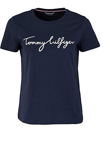 Tommy Hilfiger Damen T-Shirt Aila C-NK Tee SS Blau (Midnight 403)
