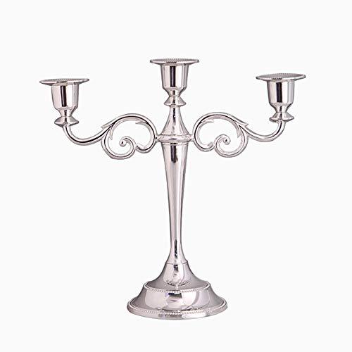 GYFHMY 3 Arme Kerze Metall Kerzenständer Kerzenständer Hochzeit Event Stand Pillar Stick Herzstück Kegel Traditionelle Klassische Elegantes Design Dinner Party -