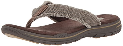 Skechers Men Evented-Arven Flip Flops, Brown (Dkbr), 10 UK 45 EU