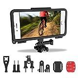 Supporto Per Telefono Bici, ZOTO con Adattatore GoPro Style Adatto per Selfie, Portabici per Bicicletta Supporto per Telefono per Manubrio e kit di Montaggio per Casco per IPhone6 / 6s / 7 / 7s / 8