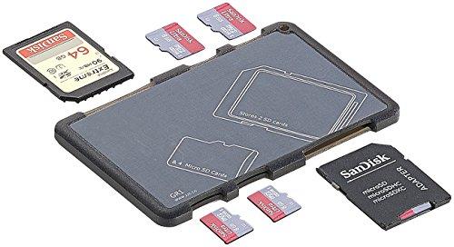 General Office Speicherkarten Box: Speicherkarten-Organizer für 2 SD-Karten und 4 microSD-Karten (Schutzhüllen für microSD-Karten)