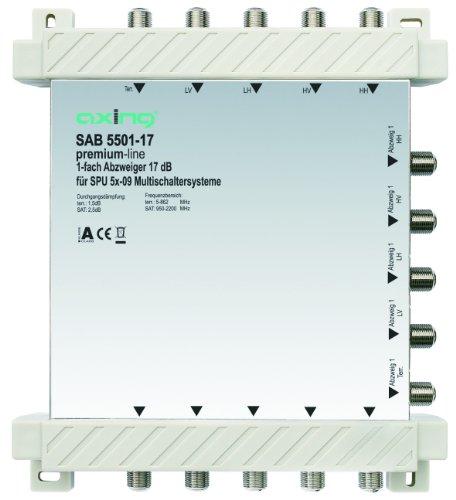 Axing SAB 5501-17 1-Fach Abzweiger (17 dB, 4x Sat / 1x terrestrisch)