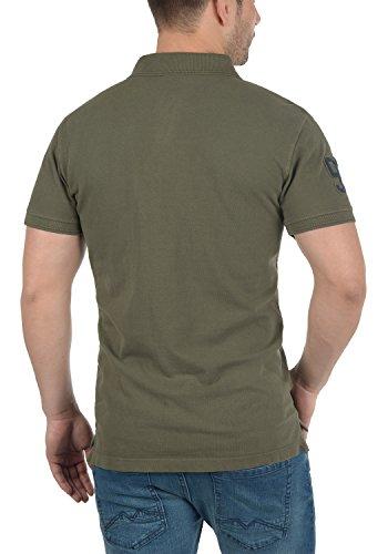 BLEND Dave Herren Poloshirt Kurzarm Shirt mit Polokragen aus 100% Baumwolle Dusty Green (70595)
