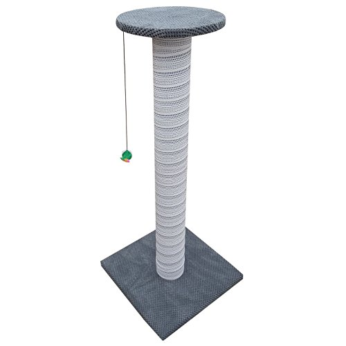 Beige 100cm Tall Giant Cat Scratching Post Tree Play Kitten Large Climbing Centre Fun Pole Stand XL